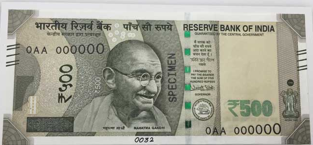 New Rs 500 Note and New Rs 2000 Notes