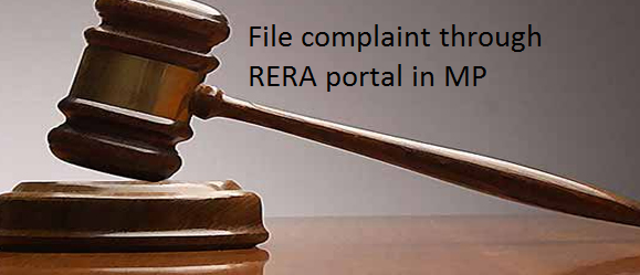 file complaint through RERA portal in MP