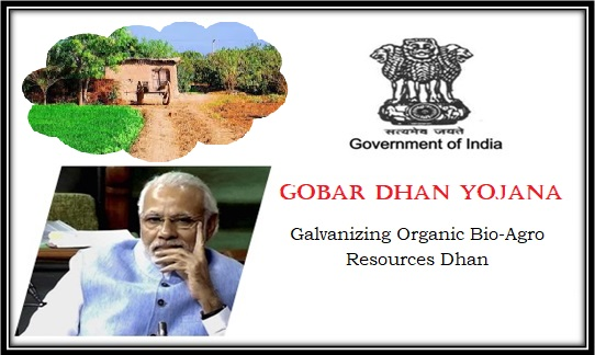 Full form of Gobar-dhan Yojana Scheme - Galvanizing Organic Bio-Agro Resources Dhan (improve lives of villagers)
