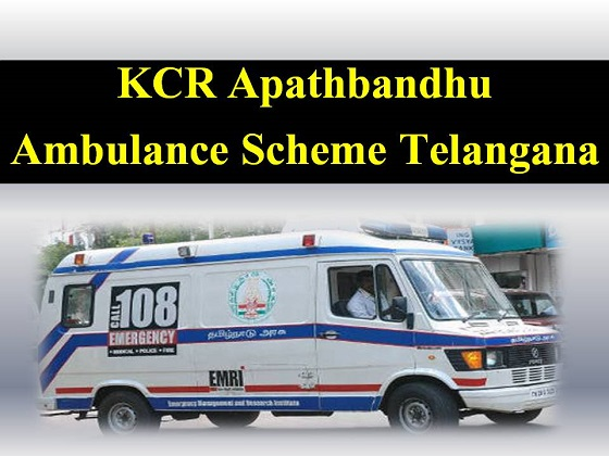 KCR Apathbandhu Ambulance Scheme Telangana